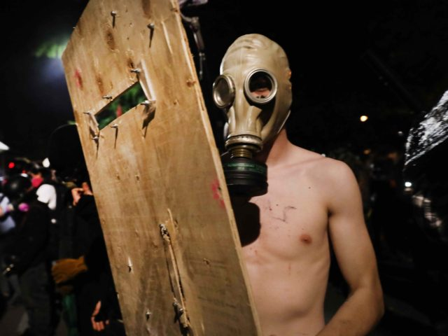 Portland protester (Spencer Platt / Getty)