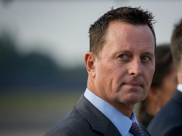 US ambassador to Germany Richard Grenell awaits the arrival of US Secretary of State Mike Pompeo (not in frame) at Tegel airport in Berlin on May 31, 2019. - The US top diplomat is on a European tour that will take him to Germany, Switzerland, The Netherlands and Britain. (Photo …