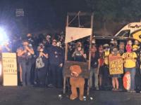 Portland Rioters Bring Guillotine, Burn American Flags