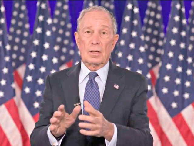 MILWAUKEE, WI - AUGUST 20: In this screenshot from the DNCC's livestream of the 2020 Democratic National Convention, former New York Mayor Michael Bloomberg addresses the virtual convention on August 20, 2020. The convention, which was once expected to draw 50,000 people to Milwaukee, Wisconsin, is now taking place virtually …