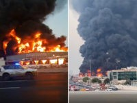 a fire erupted at a major market in Ajman, United Arab Emirates, on August 5, 2020.
