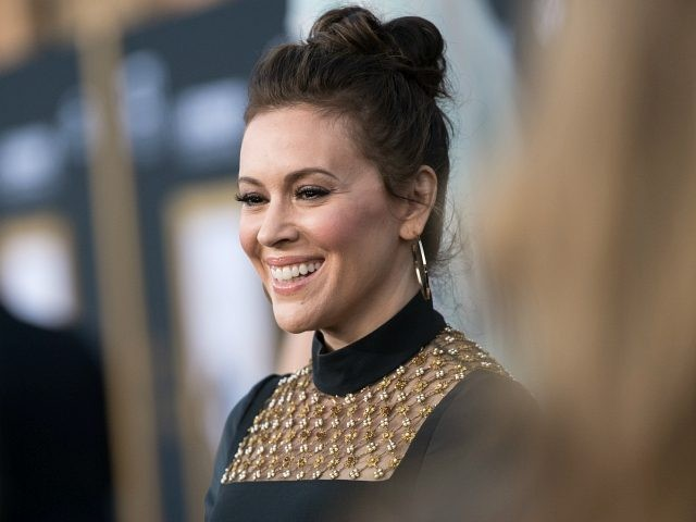 "LOS ANGELES, CA - SEPTEMBER 24: Alyssa Milano attends the premiere of Warner Bros. Pictures' ""A Star Is Born"" at The Shrine Auditorium on September 24, 2018 in Los Angeles, California. (Photo by Emma McIntyre/Getty Images)"