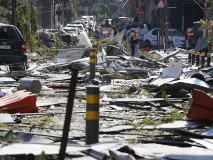 BEIRUT, LEBANON - AUGUST 05: Debris covers a street, devastated by an explosion a day earlier, on August 5, 2020 in Beirut, Lebanon. As of Wednesday morning, more than 100 people were confirmed dead, with thousands injured, when an explosion rocked the Lebanese capital. Officials said a waterfront warehouse storing …