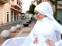 Dr Israa Seblani was posing for her bridal photographs when Tuesday's blast ripped through Beirut