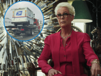Jamie Lee Curtis Wonders if Trucker in Red Hat Towing USPS Vehicle 'Stealing the Election'