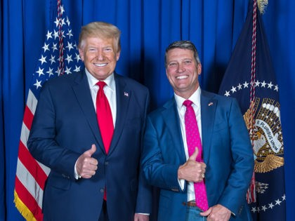 dr ronny jackson with Donald Trump