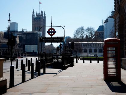 """Empty streets are pictured in central London on March 25, 2020, after Britain's government ordered a lockdown to slow the spread of the novel coronavirus. - Britain was under lockdown, its population joining around 1.7 billion people around the globe ordered to stay indoors to curb the """"accelerating"""" spread of …"""