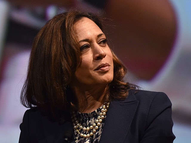 US Senator Kamala Harris attends the United State of Women Summit at the Shrine Auditorium in Los Angeles, on May 5, 2018. (Photo by CHRIS DELMAS / AFP) (Photo by CHRIS DELMAS/AFP via Getty Images)