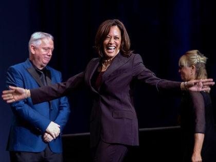 Democratic presidential candidate Kamala Harris arrives to speak during the 2019 California Democratic Party State Convention at Moscone Center in San Francisco on June 1, 2019. (Photo by Josh Edelson / AFP) (Photo credit should read JOSH EDELSON/AFP via Getty Images)