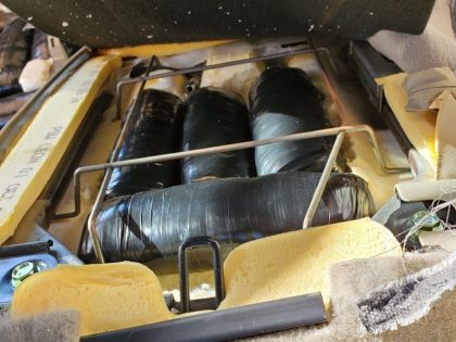 Meth found in rear seat of Nissan SUV at California immigration checkpoint. (Photo: U.S. Border Patrol/El Centro Sector)