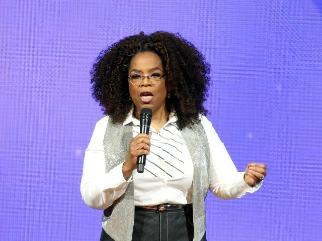 DALLAS, TX - FEBRUARY 15: Oprah Winfrey speaks during Oprah's 2020 Vision: Your Life in Focus Tour presented by WW (Weight Watchers Reimagined) at American Airlines Center on February 15, 2020 in Dallas, Texas. (Photo by Omar Vega/Getty Images)
