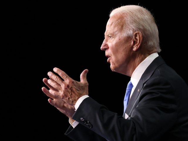 WILMINGTON, DELAWARE - AUGUST 20: Democratic presidential nominee Joe Biden delivers his acceptance speech on the fourth night of the Democratic National Convention from the Chase Center on August 20, 2020 in Wilmington, Delaware. The convention, which was once expected to draw 50,000 people to Milwaukee, Wisconsin, is now taking …