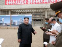 North Korean leader Kim Jong Un inspects the Pyongyang General Hospital project