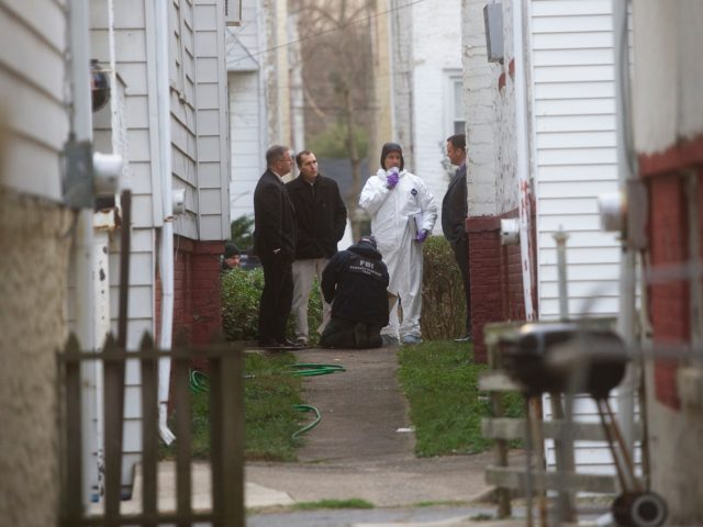 YEADON, PA - JANUARY 8: An FBI evidence response team is seen outside the home of police officer shooting suspect Edward Archer, 30, who allegedly shot 13 times at Philadelphia Police Officer Jesse Hartnett, on January 8, 2016 in Yeadon, Pennsylvania. Surveillance footage reveals the suspect was dressed in Muslim …