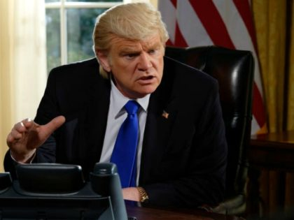 "Brendon Gleeson as President Donald Trump in Showtime's ""The Comey Rule."" Ben Mark Holzberg/CBS Television Studios/Showtime"