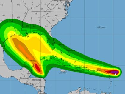 tropical storm Laura wind predictions