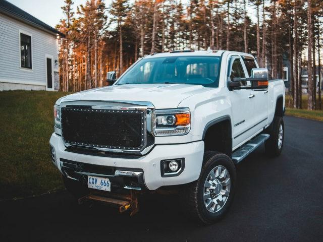 White luxury pickup truck