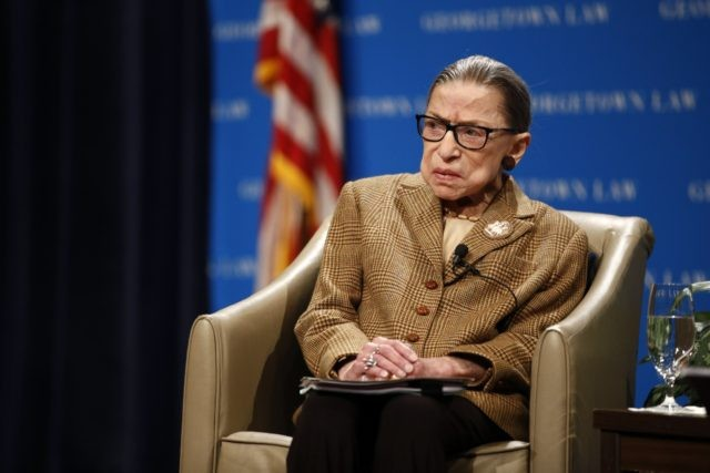 In this Feb. 10, 2020, file photo U.S. Supreme Court Associate Justice Ruth Bader Ginsburg speaks during a discussion on the 100th anniversary of the ratification of the 19th Amendment at Georgetown University Law Center in Washington. Ginsburg is perhaps the most forthcoming member of the Supreme Court when it …