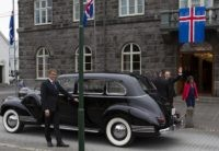 Iceland's president Guðni Th. Jóhannesson waves as he gets into a car following his inauguration in Reykjavik, Iceland Saturday Aug. 1, 2020. In Iceland, a nation so safe that its president runs errands on a bicycle, U.S. Ambassador Jeffery Ross Gunter has left locals aghast with his request to hire …