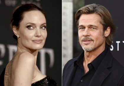 """This combination photo shows Angelina Jolie at the world premiere of """"Maleficent: Mistress of Evil"""" in Los Angeles on Sept. 30, 2019, left, and Brad Pitt at the special screening of """"Ad Astra"""" in Los Angeles on Sept. 18, 2019. Jolie asked Monday that the private judge overseeing her divorce …"""