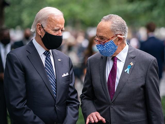 Joe Biden and Sen. Chuck Schumer at 9/11 Commemoration Ceremony - New York, NY - September 11, 2020