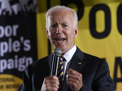 FILE - In this June 17, 2019, file photo, Democratic presidential candidate, former Vice President Joe Biden, speaks in Washington. A new poll from The Associated Press-NORC Center for Public Affairs finds majorities of Democratic voters saying gender, race and age make no difference in their enthusiasm about a candidate. …