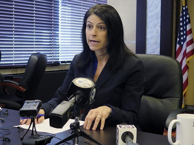 FILE - In this March 5, 2020, file photo, Michigan Attorney General Dana Nessel addresses the media during a news conference in Lansing, Mich. A federal judge in California has blocked a rule that Michigan, seven other states and four big-city school districts said would unlawfully allow too much pandemic …