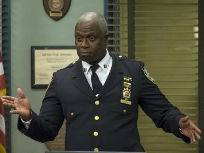 Andre Braugher, Terry Crews, and Andy Samberg in Brooklyn Nine-Nine (2013)