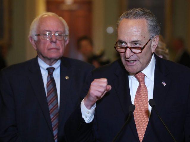 Bernie Sanders Chuck Schumer (Mark Wilson / Getty)