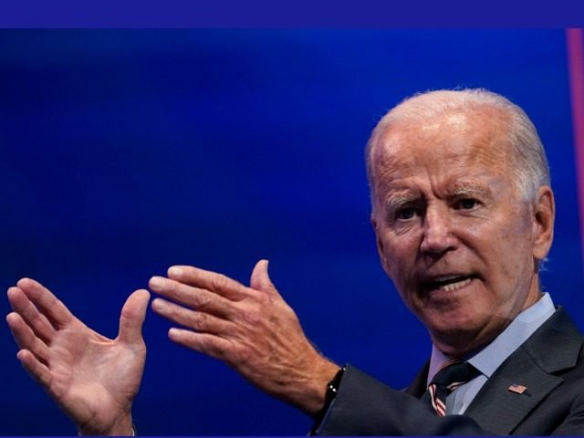 WILMINGTON, DE - SEPTEMBER 16: Democratic presidential nominee and former Vice President Joe Biden delivers remarks after a virtual coronavirus briefing with medical professionals on September 16, 2020 in Wilmington, Delaware. (Photo by Drew Angerer/Getty Images)