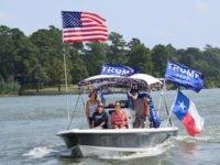 Trump Boat Parade on Lake Livingston. (Photo: Lana Shadwick/Breitbart Texas)