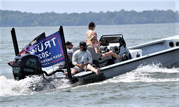 Trump Boat Parade on Lake Livingston, Texas. (Photo: Lana Shadwick/Breitbart Texas)