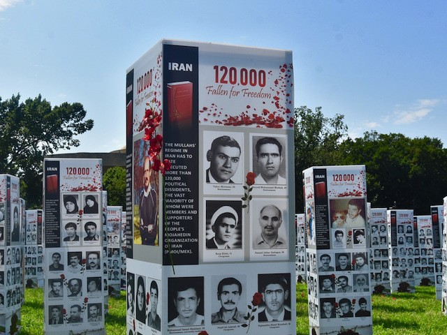 Iranian-Americans transformed the grassy field in front of the reflecting pool on the west side of the U.S. Capitol on September 4, 2020, into a stunning exhibit featuring the photographs of thousands of those, including teenagers, among the 120,000 who the Iranian regime has slaughtered since it took power in 1979.