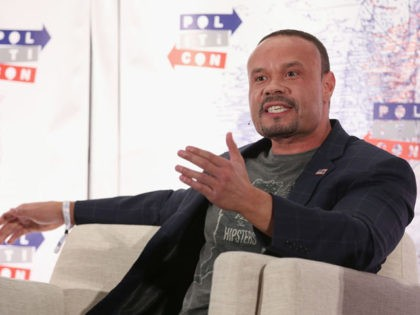 LOS ANGELES, CA - OCTOBER 21: Dan Bongino speaks onstage during Politicon 2018 at Los Angeles Convention Center on October 21, 2018 in Los Angeles, California. (Photo by Phillip Faraone/Getty Images for Politicon )