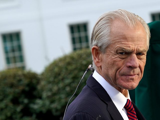 WASHINGTON, DC - OCTOBER 08: White House National Trade Council Director Peter Navarro is interviewed by Fox Business Network outside the White House October 08, 2019 in Washington, DC. Navarro will be taking a lead role in trade negotiations with the Chinese that are scheduled to begin this week. (Photo …