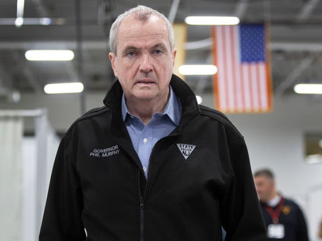 SECAUCUS, NJ - APRIL 2: New Jersey Governor Phil Murphy tours an emergency field hospital being prepared at the Meadowlands Expo Center on April 2, 2020 in in Secaucus, New Jersey. (Photo by Michael Mancuso-Pool/Getty Images)