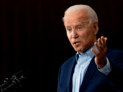 Democratic Presidential Candidate Joe Biden delivers remarks at the Jerry Alander Carpenter Training Center in Hermantown, Minnesota, on September 18, 2020. (Photo by JIM WATSON / AFP) (Photo by JIM WATSON/AFP via Getty Images)