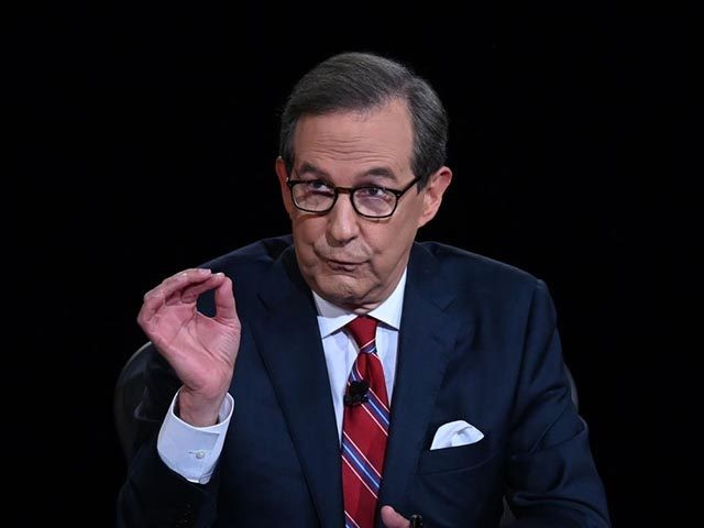 CLEVELAND, OHIO - SEPTEMBER 29: Debate moderator and Fox News anchor Chris Wallace directs the first presidential debate between U.S. President Donald Trump and Democratic presidential nominee Joe Biden at the Health Education Campus of Case Western Reserve University on September 29, 2020 in Cleveland, Ohio. This is the first …