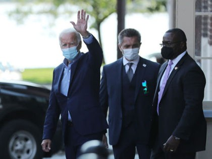 HARRISBURG, PENNSYLVANIA - SEPTEMBER 07: Democratic presidential candidate Joe Biden leaves the state AFL-CIO headquarters after meeting with local labor leaders and hosting a virtual online meeting on Labor Day, September 07, 2020 in Harrisburg, Pennsylvania. Due to the ongoing coronavirus pandemic, Biden's campaign has organized more virtual events, engaging …