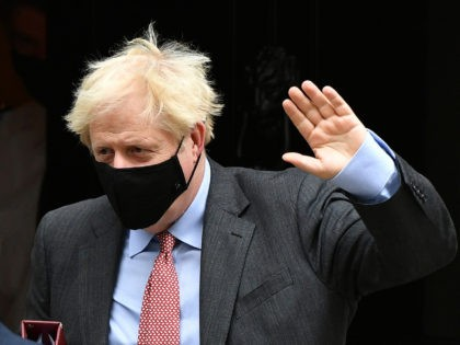 LONDON, ENGLAND - SEPTEMBER 30: Prime Minister, Boris Johnson wearing a face mask leaves Downing Street for PMQs on September 30, 2020 in London, England. The Prime Minister will lead a Covid-19 briefing later after the UK recorded the highest number of daily coronavirus cases since the begining of the …