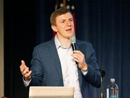DALLAS, TX - NOVEMBER 29: Conservative media activist James O'Keefe speaks at an event hosted by the Southern Methodist University chapter of Young Americans for Freedom, a campus organization started by William F. Buckley in 1960, at the Hughes-Trigg Student Center on November 29, 2017 on the SMU campus in …