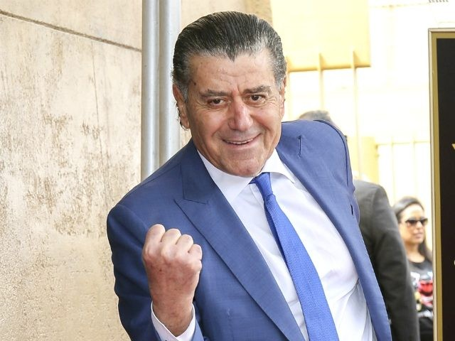 "Haim Saban Honored with a Star on the Hollywood Walk of Fame Haim Saban, creator of the ""Power Rangers,"" poses at a ceremony honoring him with a star on the Hollywood Walk of Fame on Wednesday, March 22, 2017, in Los Angeles. (Photo by Willy Sanjuan/Invision/AP)"