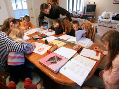 Uwe Romeike and his wife Hannelore work with their children Daniel (13 yrs.), Lydia (10 yrs.), Josua (9 yrs.), Christian (7 yrs.) and Damaris (3 yrs.) at their home Friday, March 13, 2009 in Morristown, Tenn. The couple have moved into a modest duplex home while they seek political asylum …