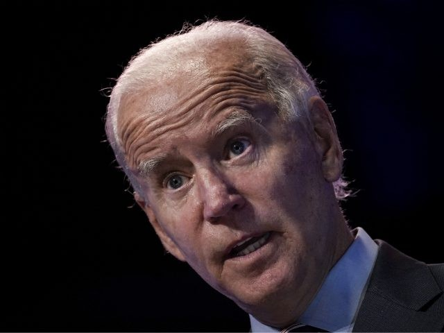 WILMINGTON, DE - SEPTEMBER 16: Democratic presidential nominee and former Vice President Joe Biden takes questions from reporters after a virtual coronavirus briefing with medical professionals on September 16, 2020 in Wilmington, Delaware. (Photo by Drew Angerer/Getty Images)