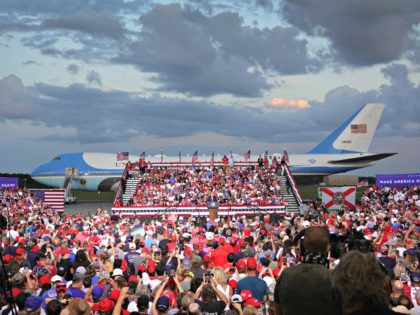 JACKSONVILLE, FLORIDA - SEPTEMBER 24: President Donald Trump speaks during his, 'The Great American Comeback Rally', at Cecil Airport on September 24, 2020 in Jacksonville, Florida. President Trump continues to campaign against Democratic Presidential Candidate Joe Biden. (Photo by Joe Raedle/Getty Images)