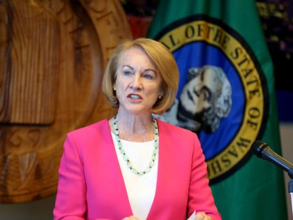 SEATTLE, WA - AUGUST 11: Seattle Mayor Jenny Durkan speaks at a press conference after Seattle Police Chief Carmen Best announced her resignation at Seattle City Hall on August 11, 2020 in Seattle, Washington. Her departure comes after months of protests against police brutality and votes by the City Council …