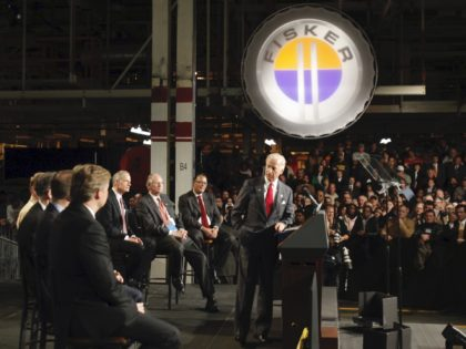 Joe Biden at Fisker (Rob Carr / Associated Press)