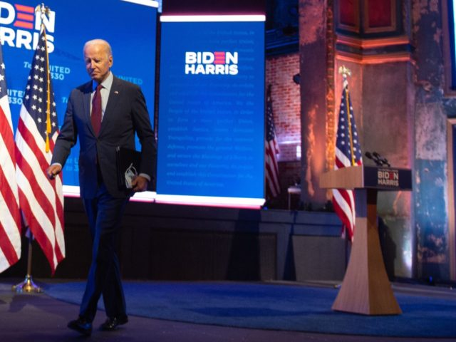Joe Biden leaves (Roberto Schmidt / AFP / Getty)