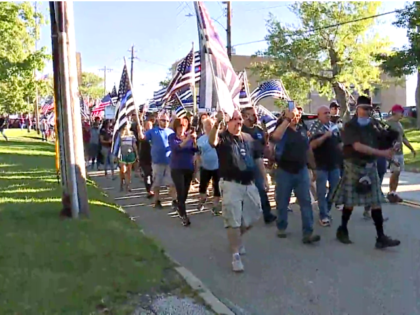 March for Thin Blue Line Flag