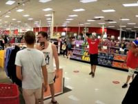 Anti-Mask Demonstrators March Through Target